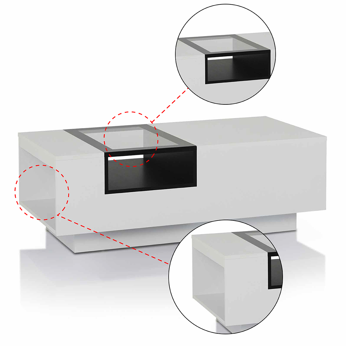 Mesa de centro moderna blanca | Fabricantes de muebles para el hogar ...